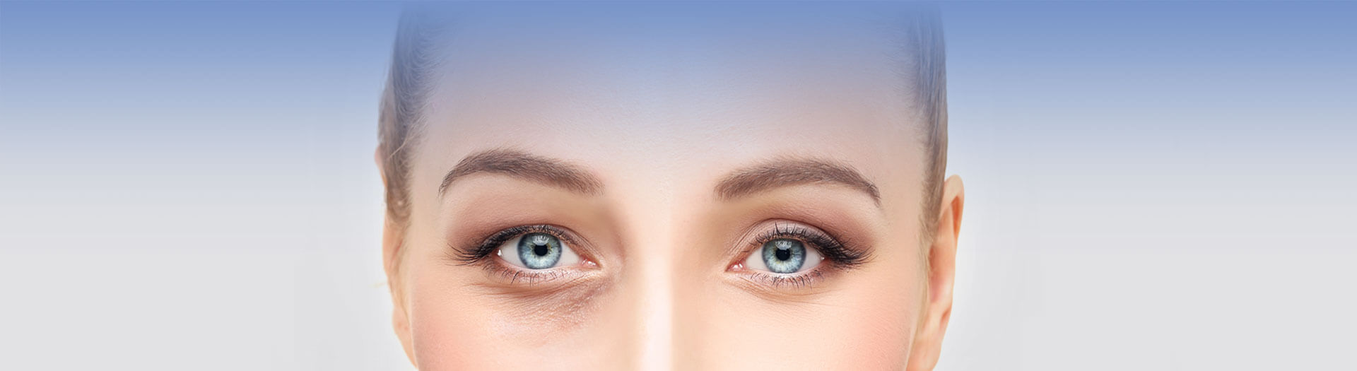 Closeup of a woman's face and her eyes
