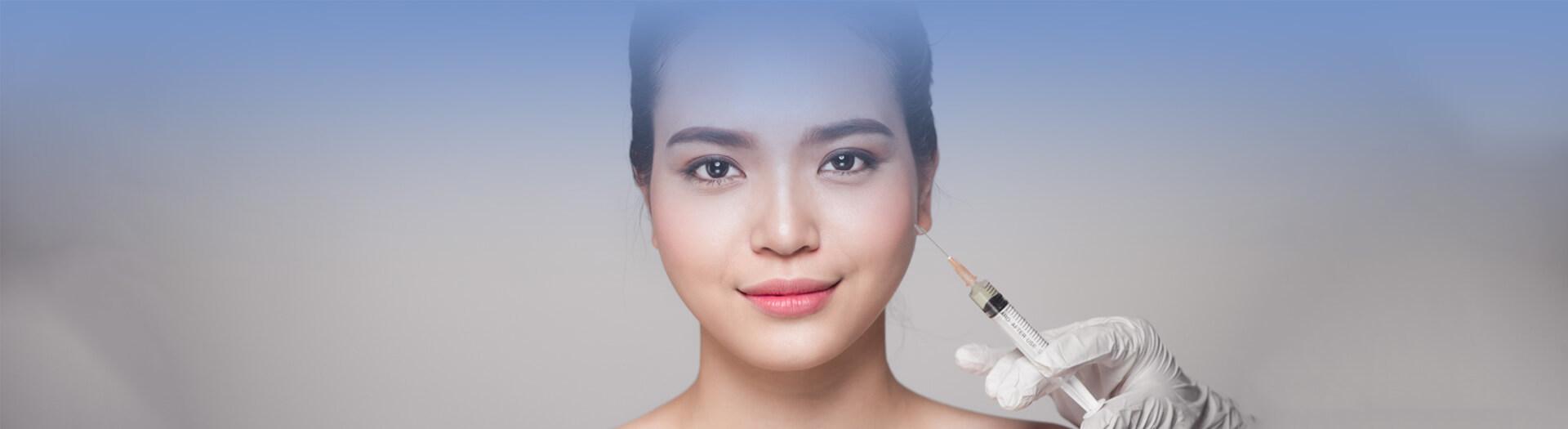 Woman receiving Restylane treatment