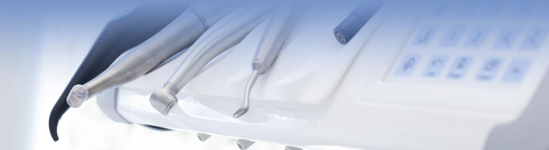 Closeup of dental equipments