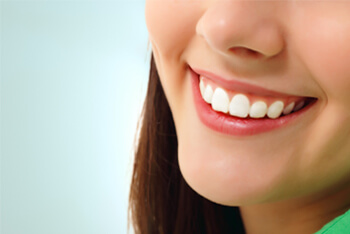 Perfect smile healthy tooth cheerful teen girl
